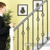 Set of 3 Grosvenor Rope Twist Stair Spindles - Pattern 2 Scale