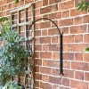 """Shepherds Crook"" Hanging Basket Wall Bracket on Situ on a Garden Wall"