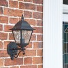 """Sheringham"" Traditional =Bottom Fix Wall Lantern in Situ by the Front Door"