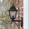 "Side View of the ""Sheringham"" Traditional Black Bottom Fix Wall Lantern"