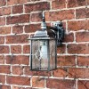 Side View of the Silver Top Fix Hanging Wall Lantern