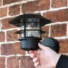 """""""Skive"""" Black Contemporary Wall Light to Scale"""