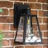 Sleek Black Outdoor Wall Lantern