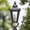 Small Black Victorian Lamp Post Top