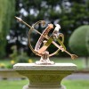 Polished Solid Copper Armillary on a Plinth