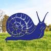 Snail Silhouette in Blue