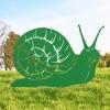 Snail Silhouette in Situ in the Garden