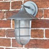 """""""South Shore"""" Top Fix Wall Lantern Finished in a Silver Finish"""