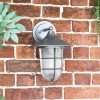 """""""South Shore"""" Silver Large Top Fix Wall Lantern in Situ on a Brick Wall"""