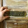 """No Hawkers No Circulars"" Sign to Scale"