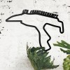 Spa-Francorchamps Race Track Wall Art Crated From Steel and Finished in Black