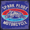 """Spark Plugs"" Metal Sign"