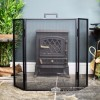 Square Simplistic Three Fold Fireguard in Situ Next to the Fire Place
