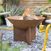 Rustic Fire Bowl in Situ in Garden