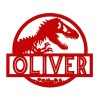 T-Rex Steel Monogram Steel House Name Sign Finished in Red