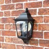 """Tattershall Thorpe"" Half Wall Lantern Finished in Black"