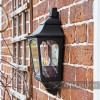 "Side View of the ""Tattershall Thorpe"" Black Half Wall Lantern"