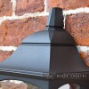 "Close-up of the Top of the ""Tattershall Thorpe"" Black Half Wall Lantern"