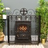 """The """"Chichester"""" Victorian Fire Guard Finished in Black"""