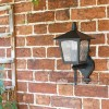 Traditional Bottom Fix Black Wall Mounted Lantern