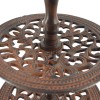 Rustic cake stand detail