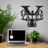 Letter Y Monogram Name Sign in Situ in the Office