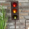 Close-up of the top of the Traffic Light Design Candle Holder