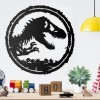 T-Rex Wall Art on a White Wall