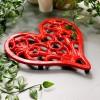 Heart Design Cast Iron Trivet