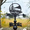 Submarine Weathervane on Background