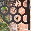 Close up of hexagonal pattern
