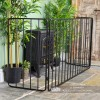 View of the Side of the Simplistic Wrought Iron Nursery Fire Guard