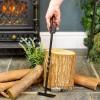 Black Iron Fireplace Ash Scraper to Scale