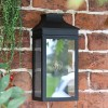 Traditional Flush Wall Light in Black