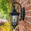 Large Traditional Black Wall Lantern