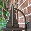 Close up of unique finial and supporting bracket