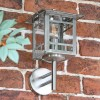 Stainless Steel Wall Lantern in Situ