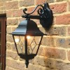 """Sheringham"" Traditional Black Top Fix Wall Lantern Colour"
