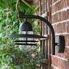 Modern Black Overhanging Wall Light & Curved Bracket