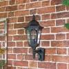 Large Bottom Fix Black Wall Lantern