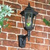 Large Bottom Fix Black Wall Lantern in Situ
