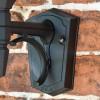 Large Bottom Fix Black Wall Lantern Backplate