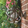 Vintage Sphere Shaped Wall Light Created From Iron