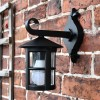 Black Cylinder Porch lantern
