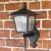 Oxford Traditional Bottom Fix Black Wall Lantern