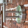 Contemporary Stainless Steel Wall Lantern Circular Mounting Bracket