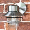 Contemporary Overhanging Wall Lantern