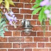 Contemporary Silver Overhanging Wall Light