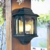 Moorside half wall lantern colour