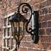 Walnut effect Glendale wall lantern on Manor house